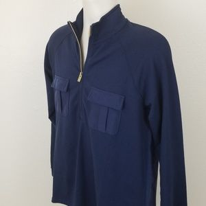 Women's Medium 8/10 Tommy Bahama Blue Top 1/2 Zip